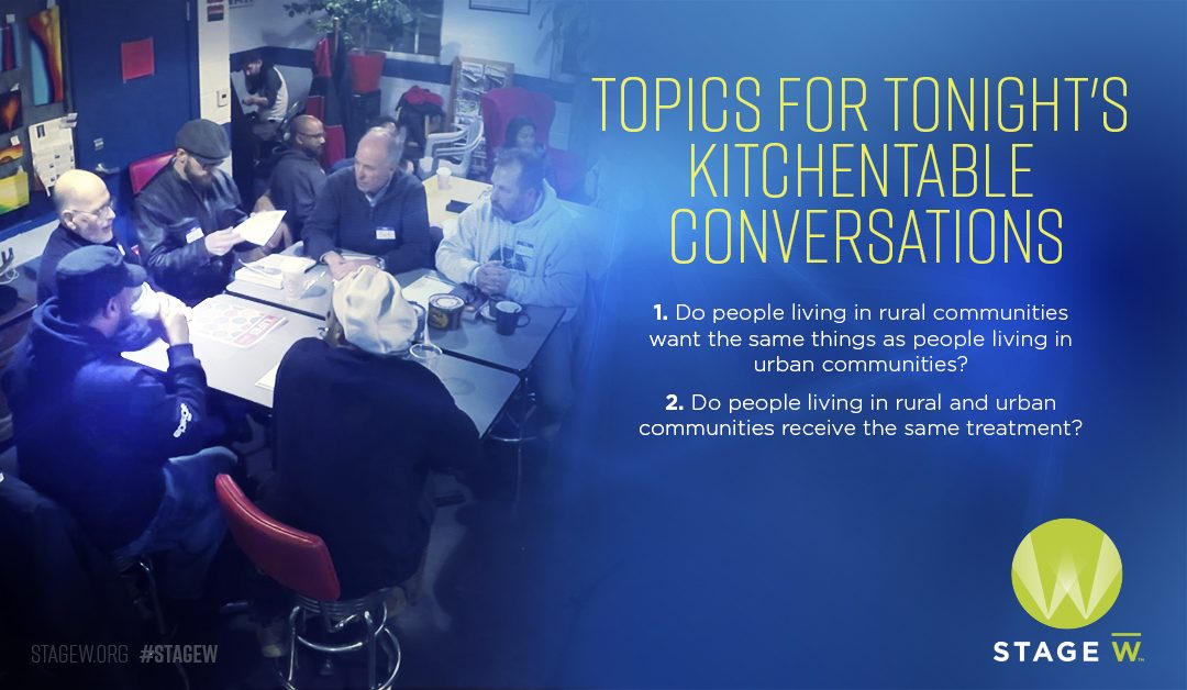 City vs. Country – KitchenTable Conversations Continue in Milwaukee and Green Bay Tonight